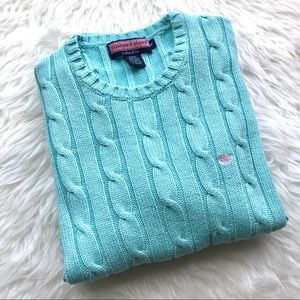 Vineyard Vines Sweaters - Vineyard Vines Tiffany Blue Knit V Neck Sweater